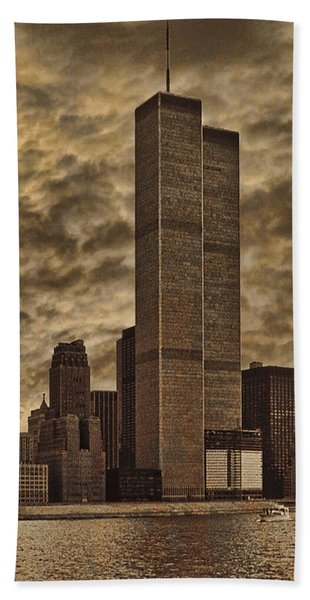Downtown Manhattan Circa Nineteen Seventy Nine  Beach Towel