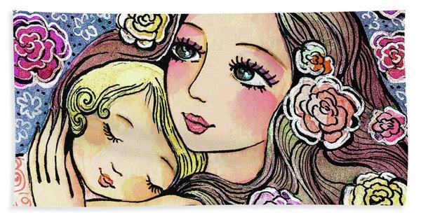 Dreaming In Roses Beach Sheet