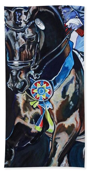 Dressage Stallion Beach Towel