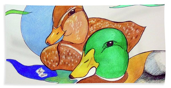 Ducks2017 Beach Towel