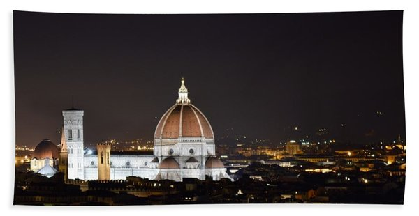 Duomo Illuminated Beach Towel
