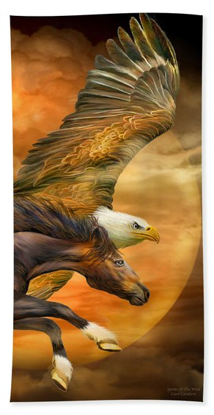 Eagle And Horse - Spirits Of The Wind Beach Sheet