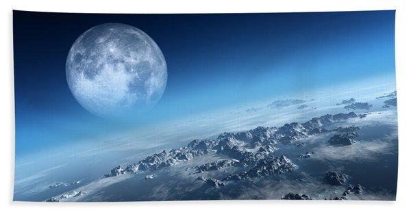 Earth Icy Ocean Aerial View Beach Towel