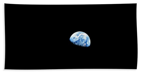 Earthrise - The Original Apollo 8 Color Photograph Beach Towel