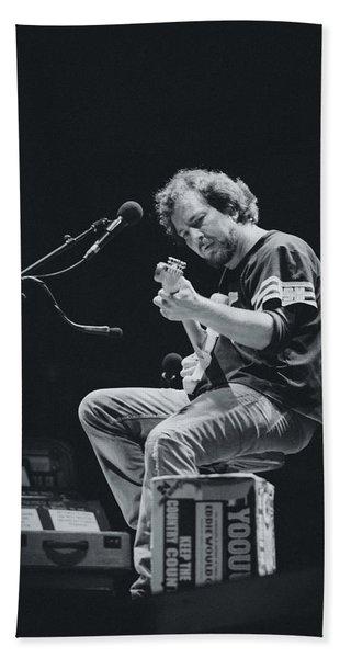 Eddie Vedder Playing Live Beach Towel