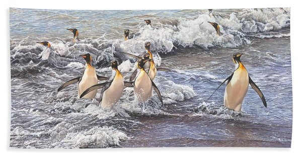 Emperor Penguins Beach Towel