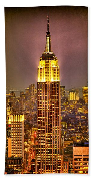 Beach Towel featuring the photograph Empire Light by Chris Lord