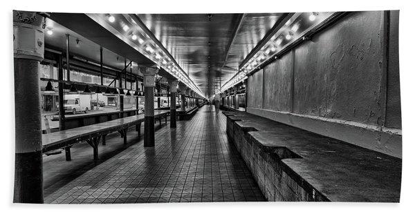 Empty Pike Place Market In Seattle Beach Towel