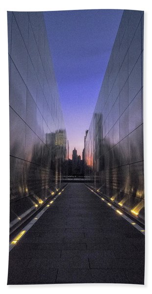 Beach Towel featuring the photograph Empty Sky 911 Memorial by Tom Singleton