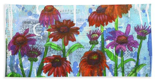 Enchanting Echinacea Beach Towel