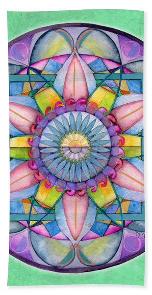 End Of Sorrow Mandala Beach Towel