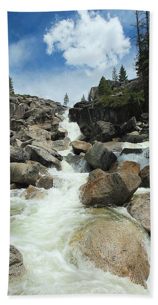 Beach Towel featuring the photograph Enjoy A Waterfall by Sean Sarsfield