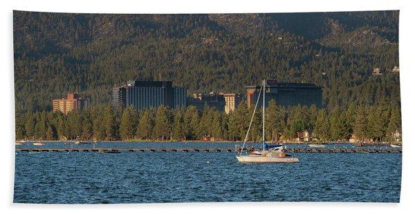 Enjoying The Lake Beach Towel