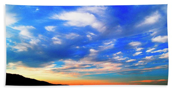 Estuary Skyscape Beach Towel