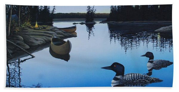 Evening Loons Beach Towel