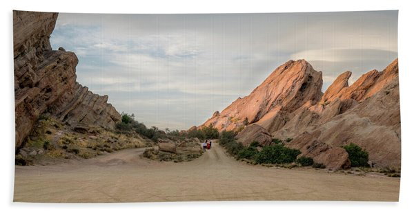 Beach Towel featuring the photograph Evening Rocks By Mike-hope by Michael Hope