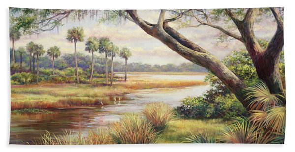 Everglades Afternoon Beach Towel