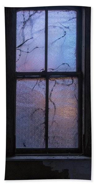 Beach Towel featuring the photograph Exam Room Window by Tom Singleton