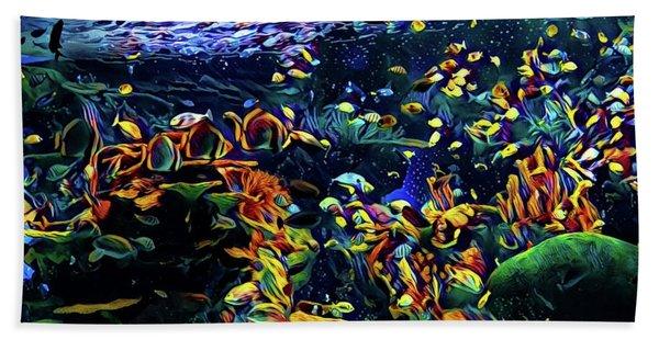 Exotic Tropical Marine Fish Beach Towel