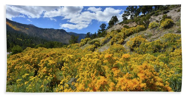 Fall Colors Come To Mt. Charleston Beach Towel