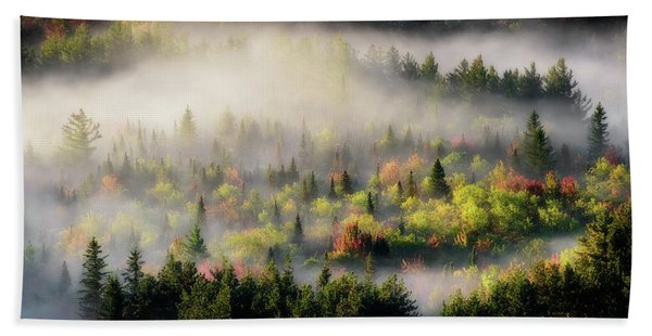 Fall Fog Beach Towel