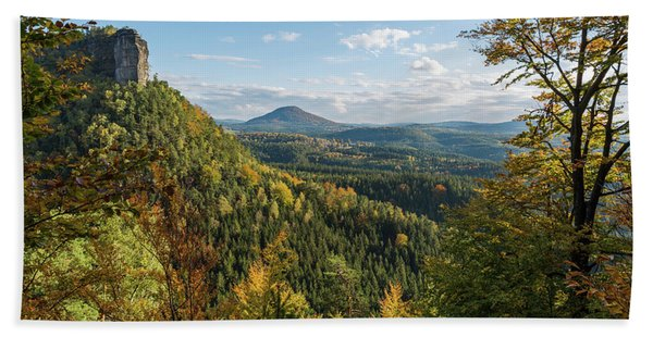 Fall In Bohemian Switzerland Beach Towel