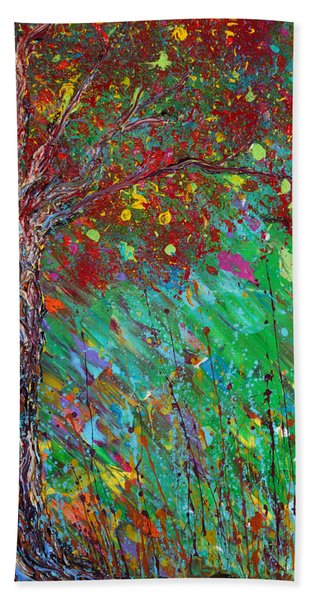 Beach Towel featuring the painting Fall Revival by Jacqueline Athmann