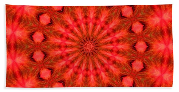 Feathered Rouge Beach Towel