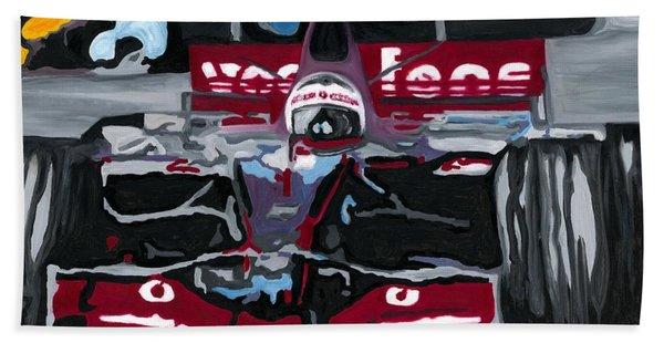 Fernando Alonso Wins Monaco For Mclaren 2008 Beach Towel