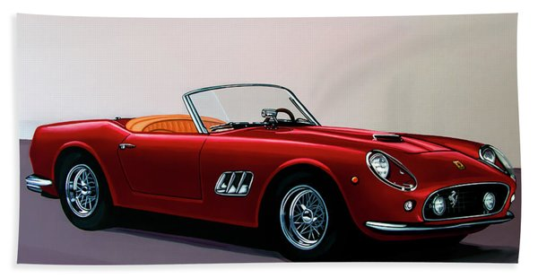 Ferrari 250 Gt California Spyder 1957 Painting Beach Towel