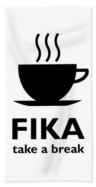 Fika - Take A Break Beach Sheet