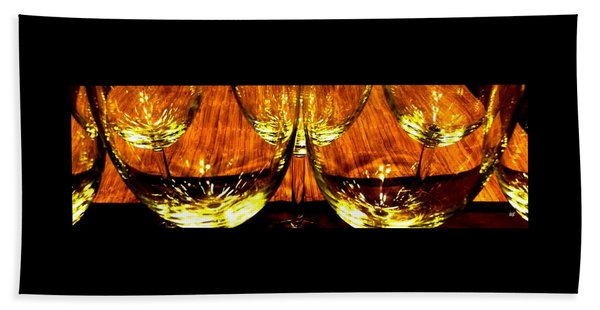 Fine Wine And Dine 3 Beach Towel