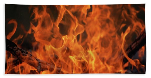 Fire Beach Towel