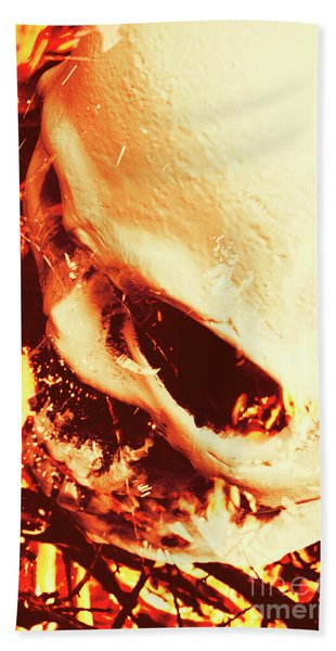 Fire Of Doom Beach Towel