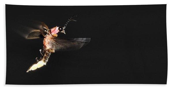 Firefly In Flight Beach Towel