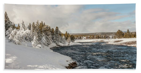 Firehole River On A Winter Day Beach Towel