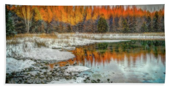 First Light At 3 Springs Beach Towel
