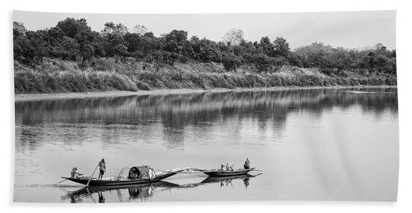 Fishing The Lower Ganges Beach Sheet