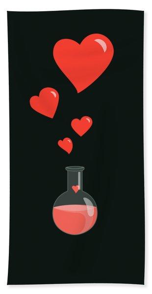 Flask Of Hearts Beach Towel
