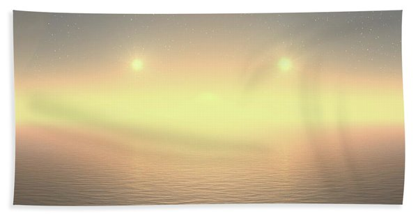 Beach Towel featuring the digital art Flat Lights by Robert Thalmeier
