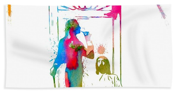 Fleetwood Mac Album Cover Watercolor Beach Towel
