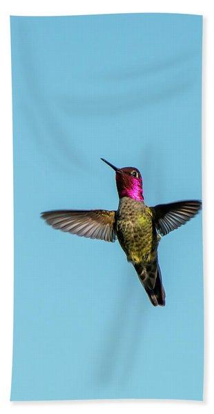 Flight Of A Hummingbird Beach Towel