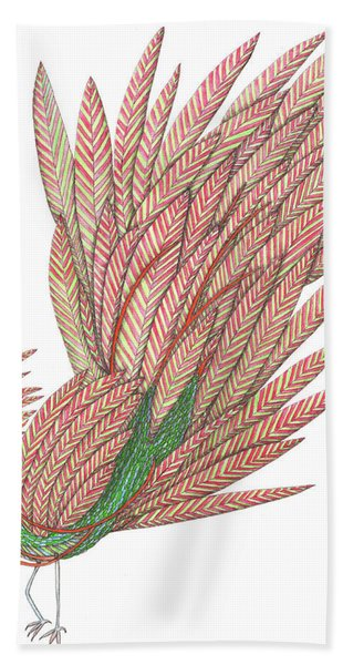 Flippy The Feather Duster, The Exotic Bird Beach Towel