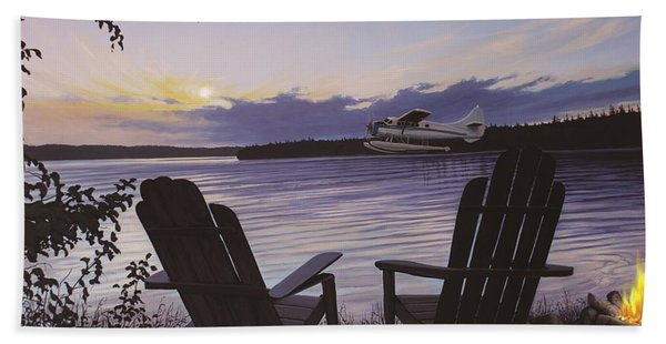 Float Plane Beach Towel