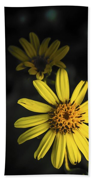 Flora In Yellow Beach Towel