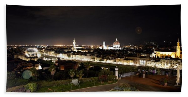 Florence At Night Beach Towel