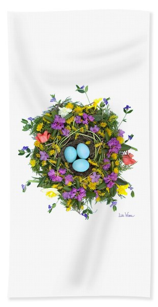 Flower Nest Beach Towel