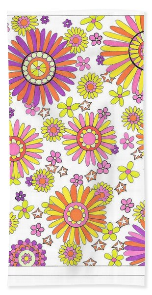 Flower Power 1 Beach Sheet