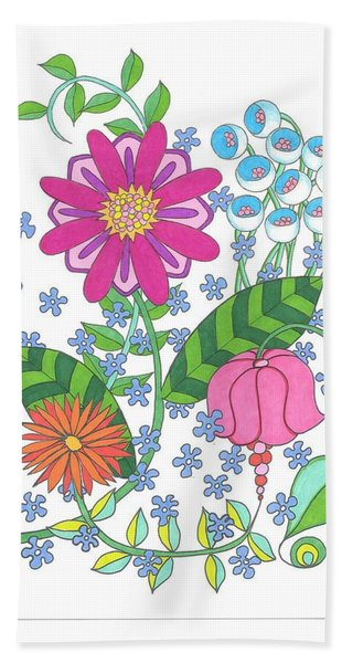 Flower Power 3 Beach Sheet