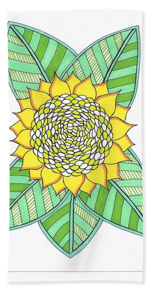 Flower Power 6 Beach Sheet